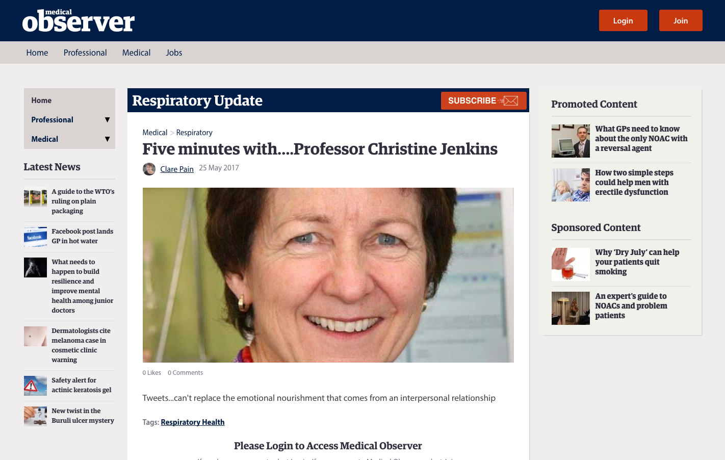 Five minutes with… Professor Christine Jenkins | The George