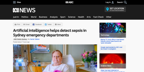 Artificial intelligence helps detect sepsis in Sydney emergency departments